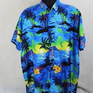 Rima Beachwear Hawaiian Button Up Casual Shirt